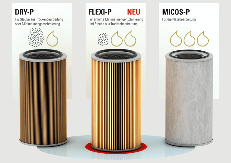 To be more flexible in the future and to optimally meet the complex separation challenges posed by machines for metal treamtent, Keller developed the universally applicable FLEXI-P cartridge filter.