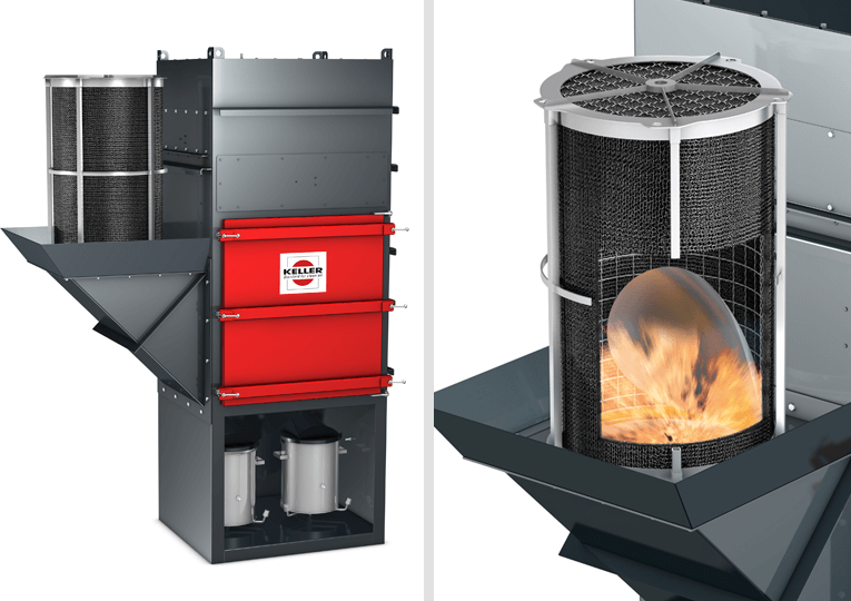 The VARIO dry separator with a ProPipePlus provides hazard-free explosion pressure relief inside buildings.