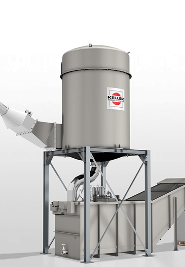 Using wet separation for dust extraction is advantageous. No additional explosion protection devices are required.