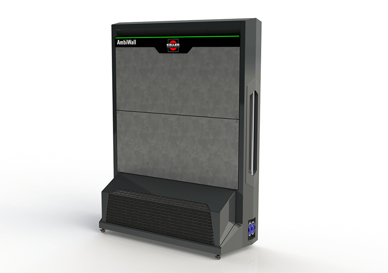 AmbiWall - the portable stand-alone solution as a flexible add-on to an existing dedusting system.