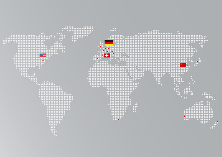 Keller Lufttechnik is enjoying global succes: The Keller Group includes subsidiaries in Switzerland (St. Gallen), the USA (Fort Mill, SC) and China (Shanghai).