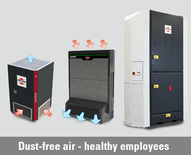 Our range of products for clean air ensures purified air for any interior premises, from the smallest office to the largest plant.
